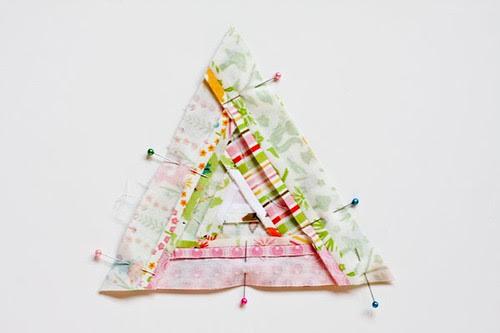 Triangular Log Cabin Pincushion Tutorial - In Color Order