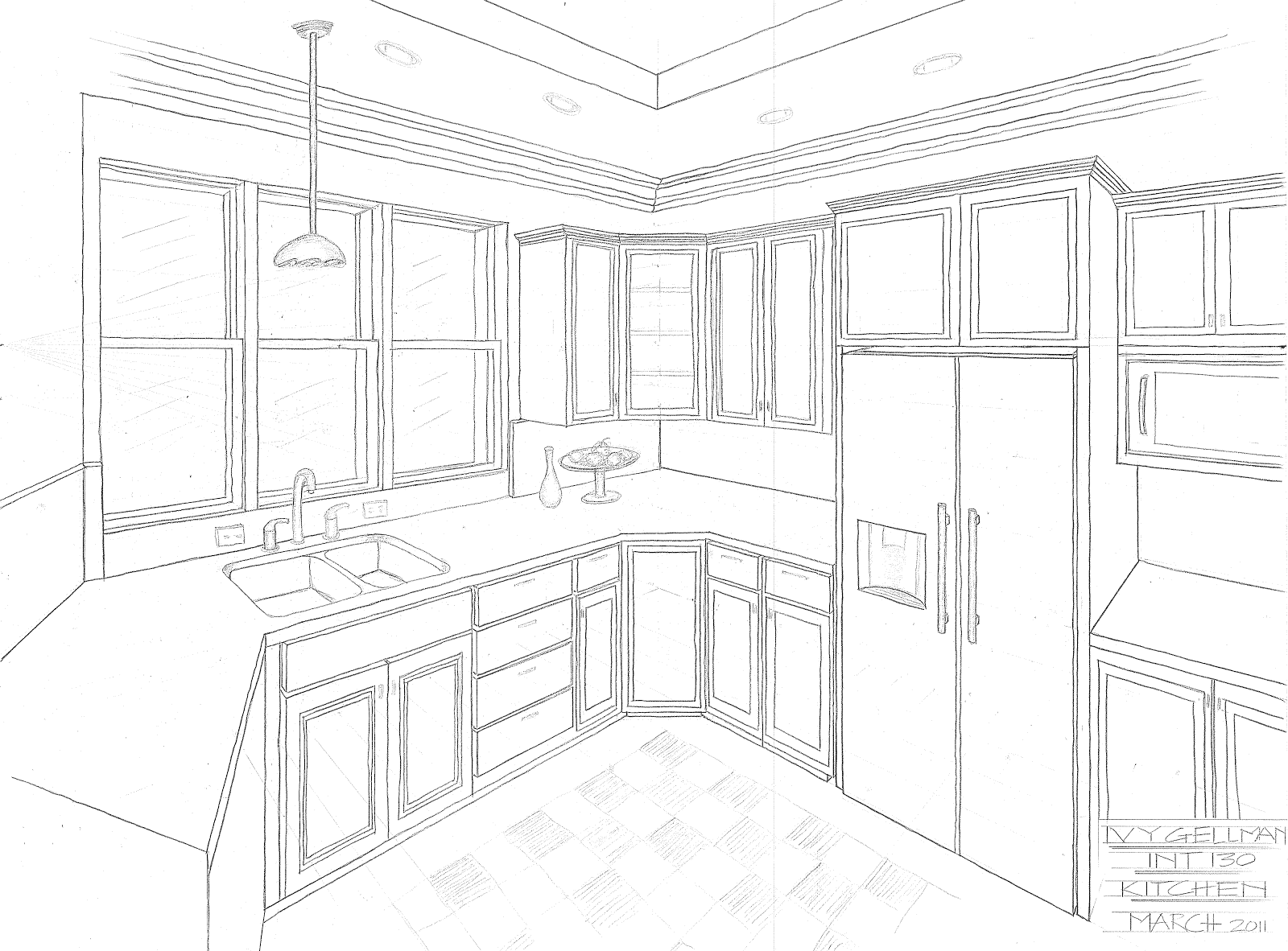 Home Architec Ideas Drawing Room With Kitchen Design
