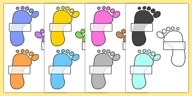 Editable Self Registration Labels (Footprints) - Self