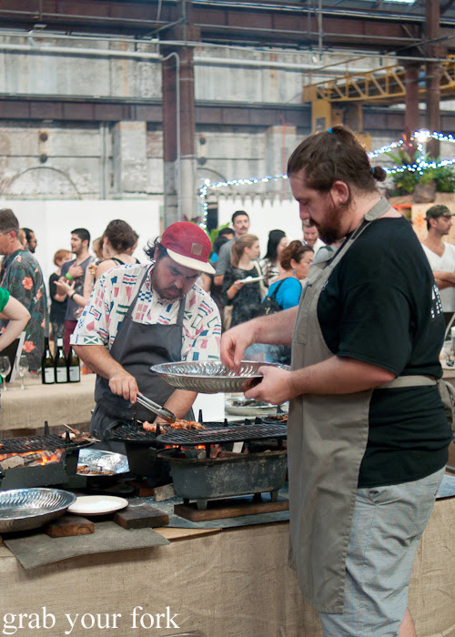 Chefs on the grill at the Rootstock Sydney 2014 Night Festival