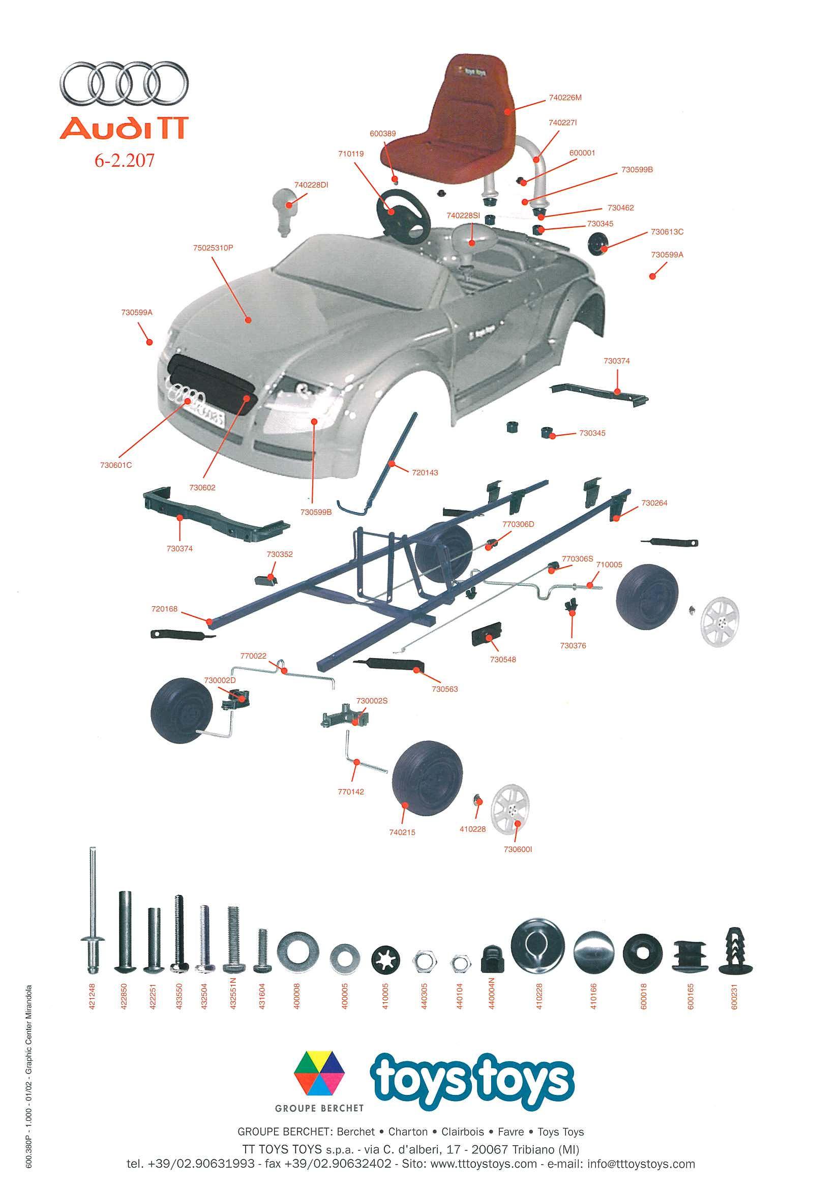 2001 Audi A4 Parts Diagram