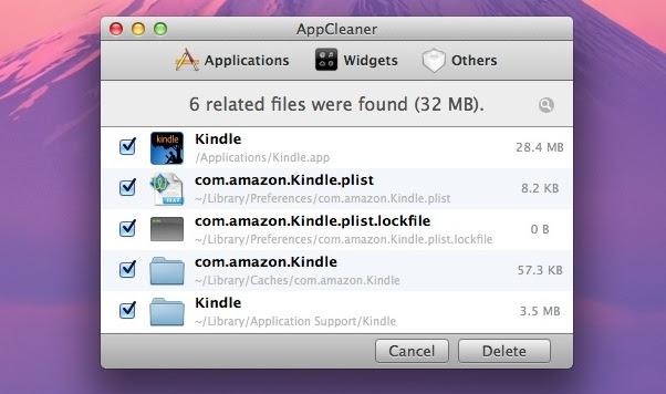 AppCleaner deletes residual app stuff