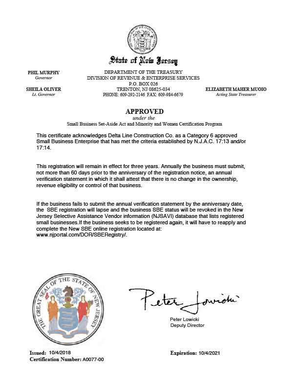 jersey registration certificate credentials