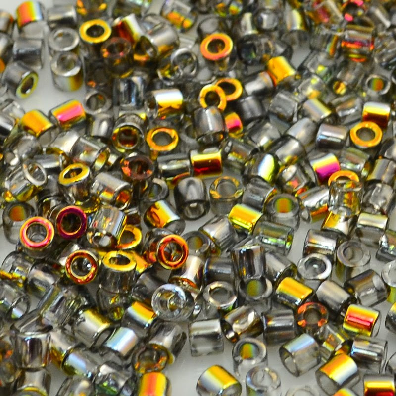dbl2201 Delicas - 8/0 Japanese Cylinders - Crystal Marea (5 grams)