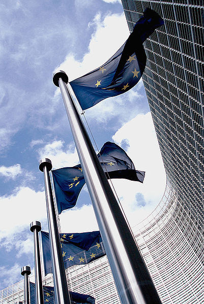 http://commons.wikimedia.org/wiki/Image:European_flag_outside_the_Commission.jpg