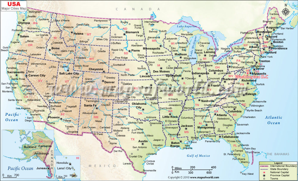 Download Map Usa Major Cities Major Tourist Attractions Maps Test