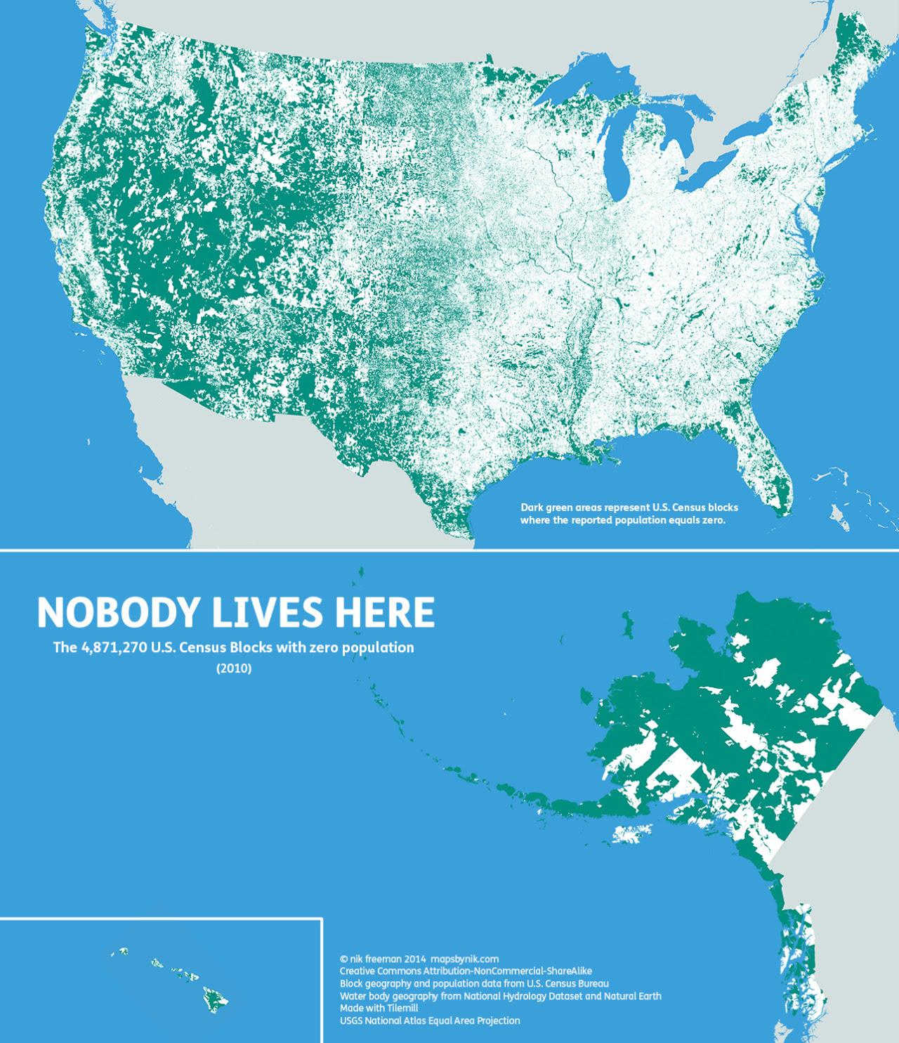 Zero Population Census Blocks