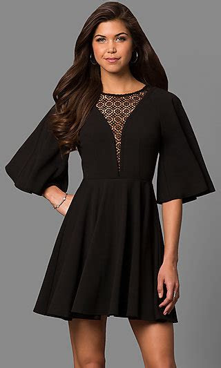 short bell sleeve   party dress  lace