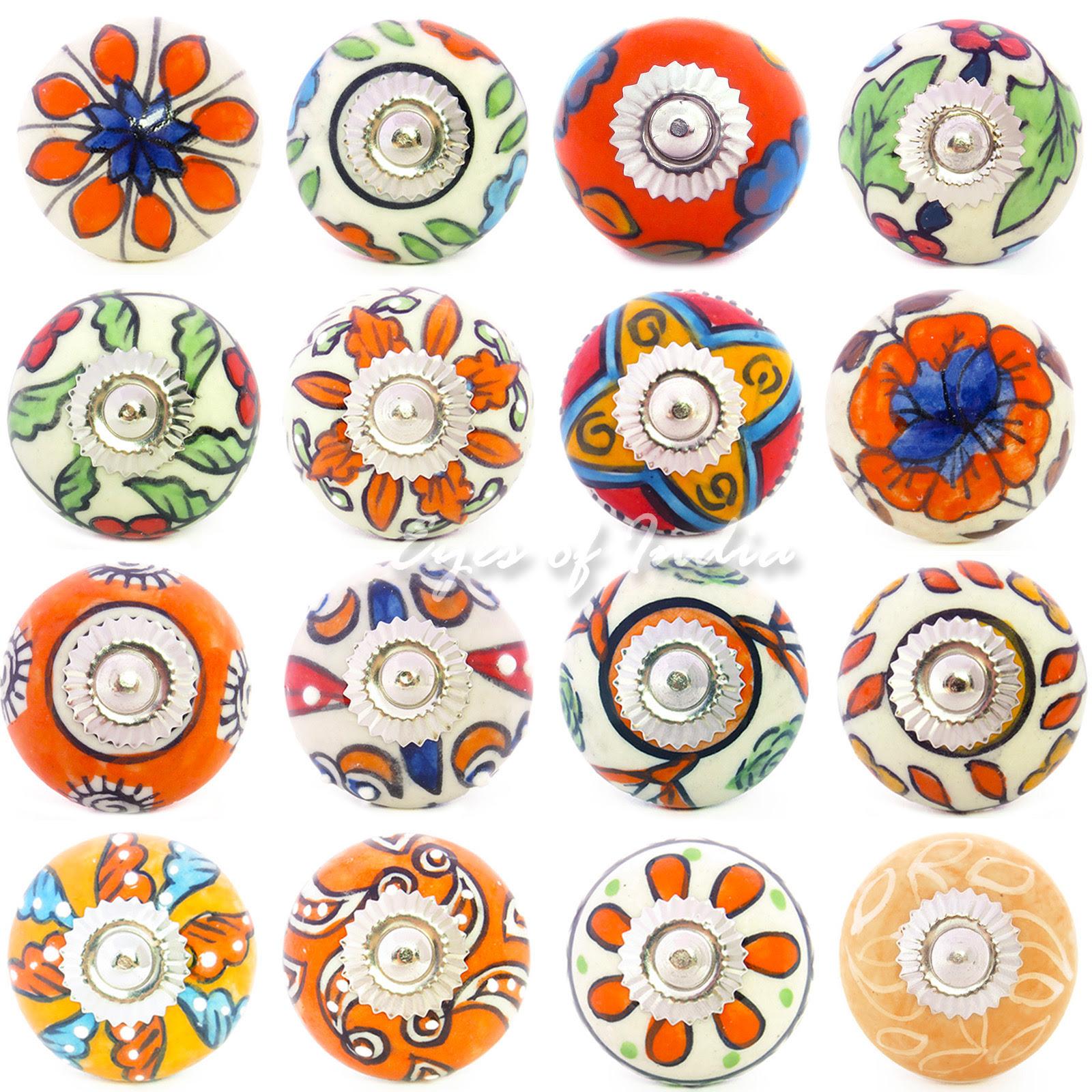 Decorative Boho Bohemian Indian Ceramic Cupboard Cabinet ...