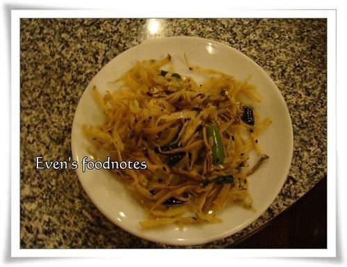 小菜:炒牛蒡絲