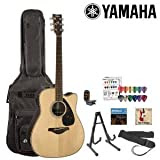 Yamaha JF-FGX730SC-KIT-1 Acoustic-Electric Guitar Kit with Gig Bag, Strings, Strap, Stand, Tuner, Instructional...