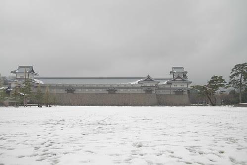 Majestic shot of Kanazawa castle