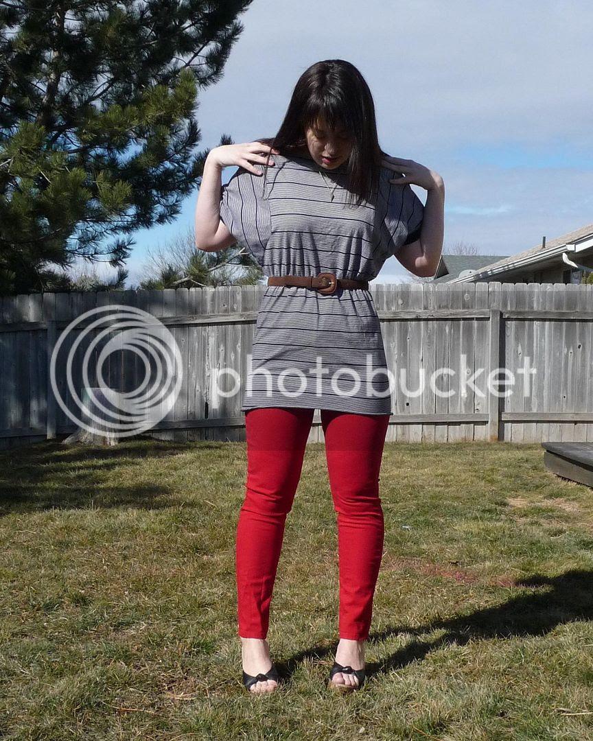 striped dress sewing refashion