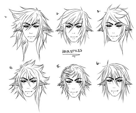 anime male hair drawing  getdrawingscom