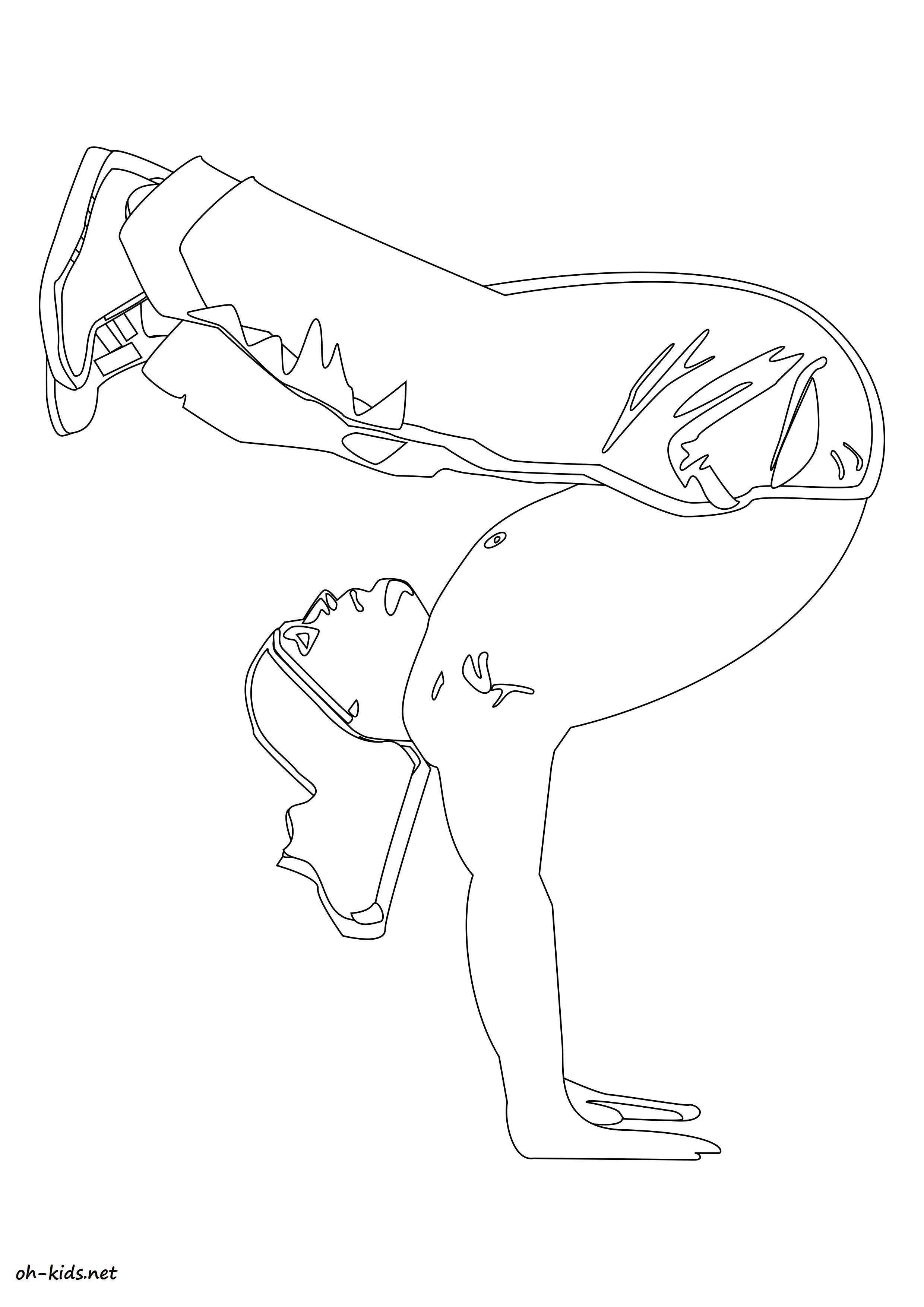 Coloriage gymnastique a imprimer et colorier Dessin 1376