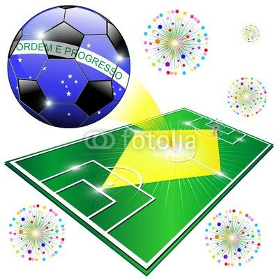 Brazil Flag World Championship with Soccer Ball