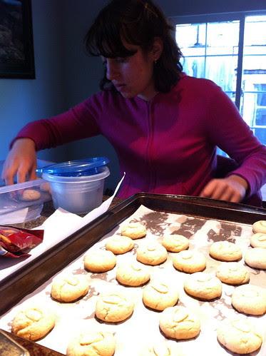 Tamya making Halva cookies