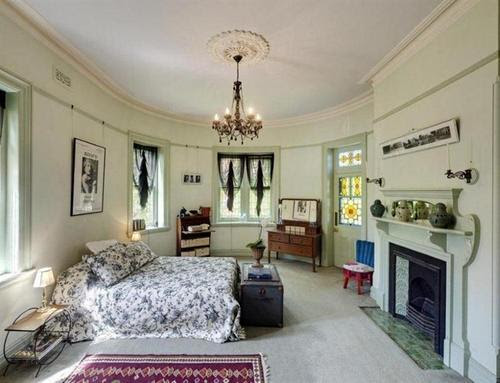 Original fireplace and Leadlight