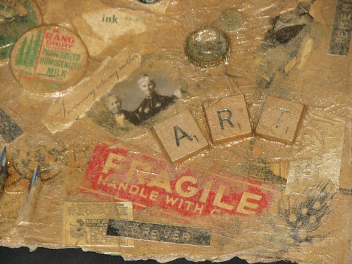 Art Journal #2 - Faux Beeswax Collage 012