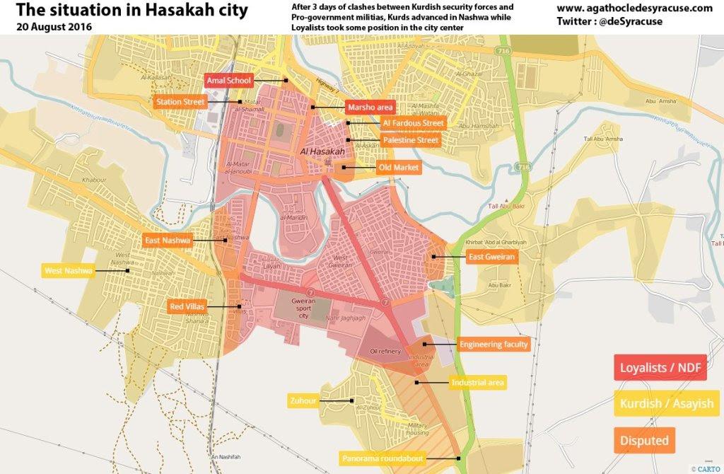 Hasakah - E unaAleppo a rovescio. Ad essere assediati sono i siriani e i cristiani, i curdi li hanno chiusi dentro.