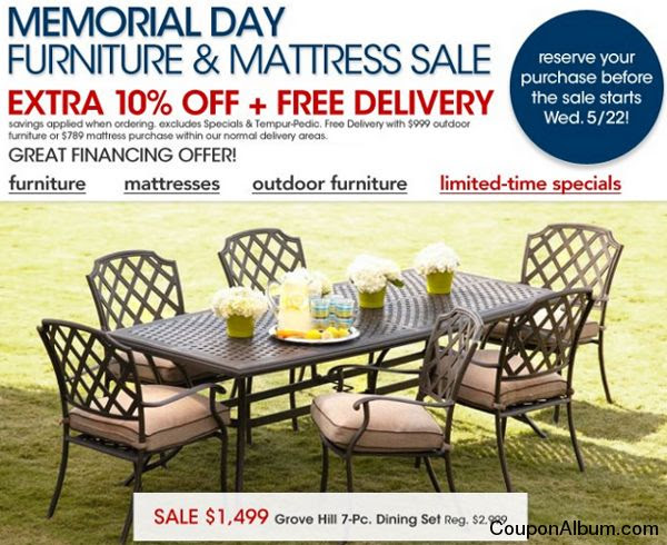 Memorial Day Patio Furniture Sale Reloc Homes - Macy outdoor furniture