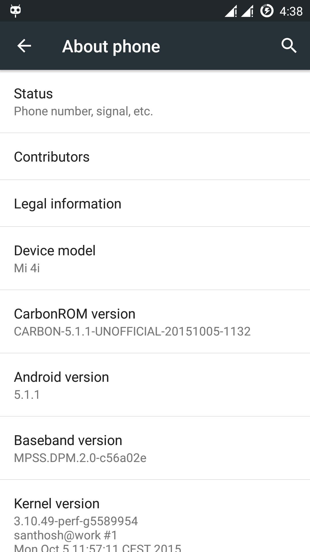 Custom ROM Carbon For Xiaomi MI4I New Update
