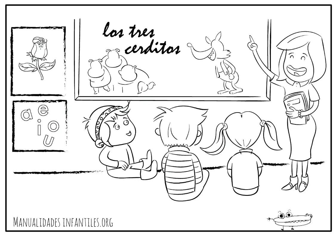 Dibujos Del Maestro Actividades Para Niños Manualidades Fáciles Y