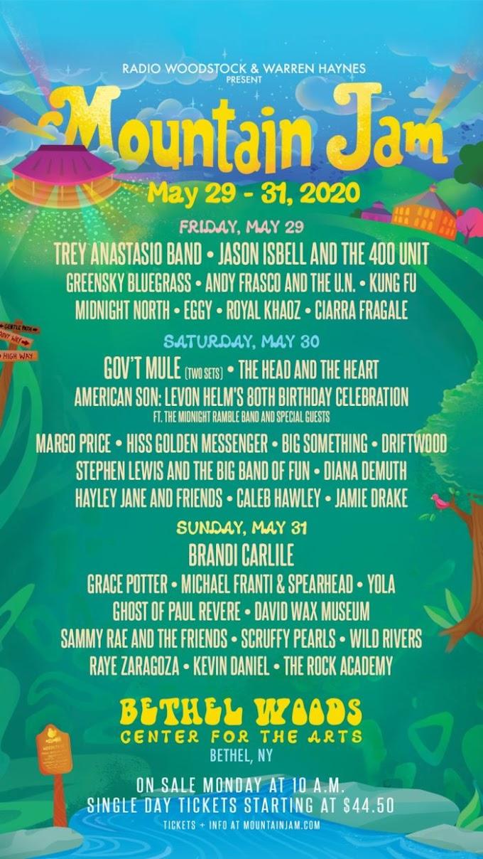 Mountain Jam 2020 Lineup: Trey Anastasio Band, Gov't Mule, Brandi Carlile and More