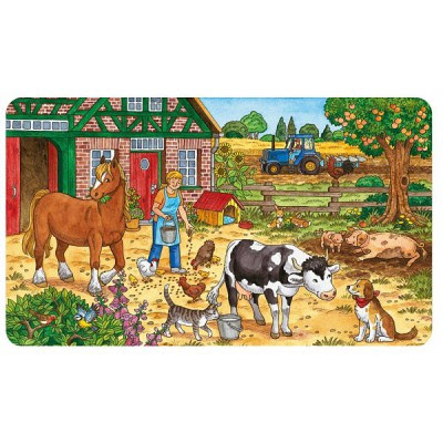 Frame Jigsaw Puzzle 15 Pieces Life At The Farm Ravensburger
