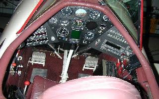 Waco biplane cockpit and instrument panel N250YM