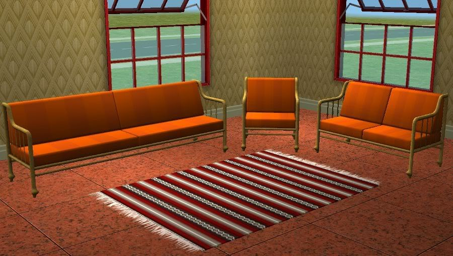 Theninthwavesims The Sims 2 Wa Egyptian Seating Set