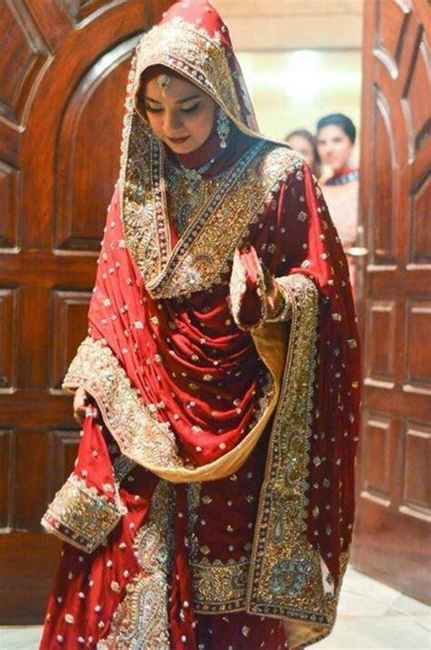 red saree Perfect Muslim Wedding   Hijab wrap   Pinterest