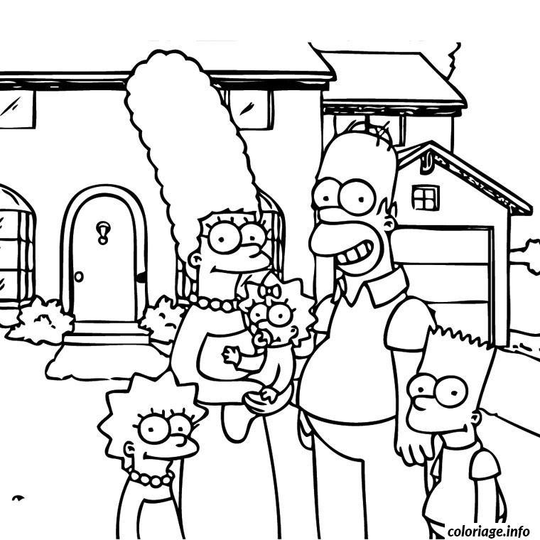 Coloriage Simpson En Famille Jecoloriecom