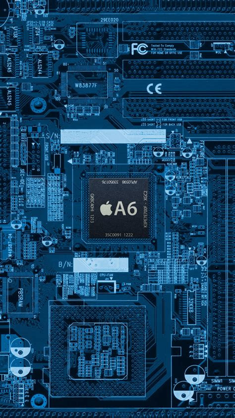 chip internal board iphone  wallpaper hd
