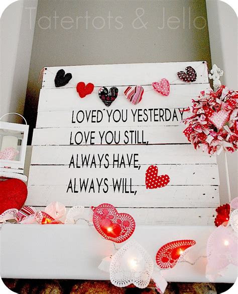 creative diy home decorating projects  valentines