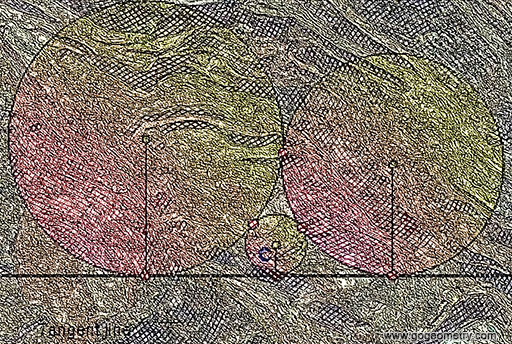 Geometric Art: Sangaku Problem: Three circles and a tangent line