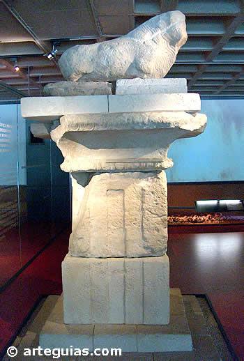 Arte Ibérico: Pilar-Estela del Museo Arqueológico de Elche