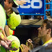 Delpo signs autographs