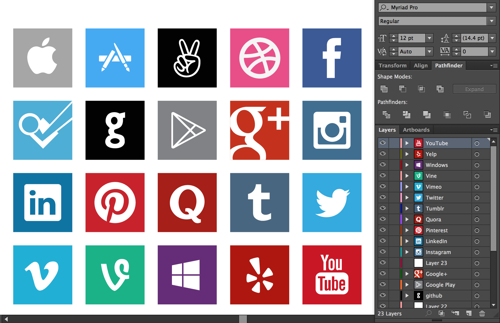 Square Social Media Icons Vector Set Download Garrett Gee - amazoncom roblox neck scarf square silk party