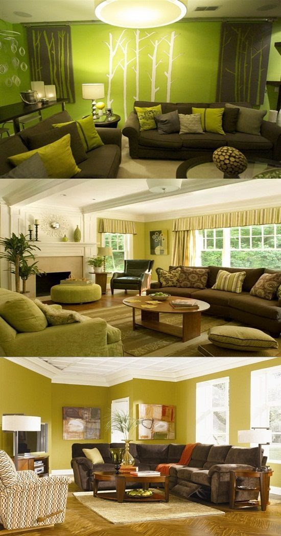 Green and Brown Living Room Decor - Interior design