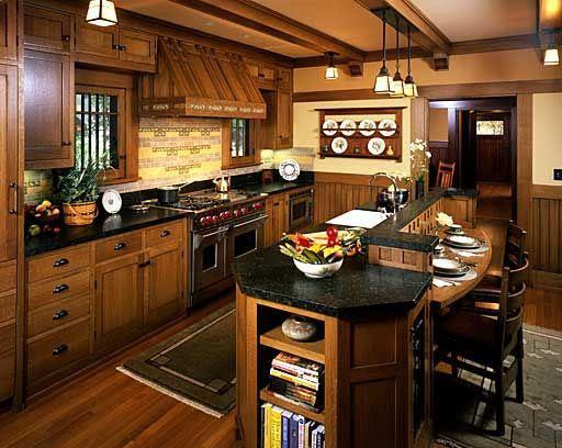 Mission Style Quarter Sawn Oak Kitchen Cabinets