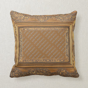 Fancy Wooden Frame Add Photo Pillow