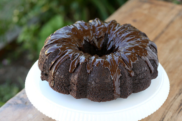 Double-Chocolate Bundt Cake with Ganache Glaze - I Like Big Bundts 2011
