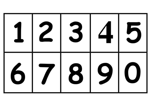 Number cards by Jaydb - Teaching Resources - TES