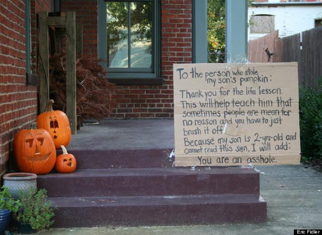 stolen pumpkin