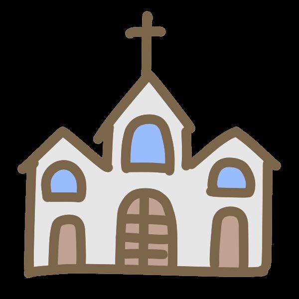 三角屋根の教会のイラスト かわいいフリー素材が無料のイラストレイン