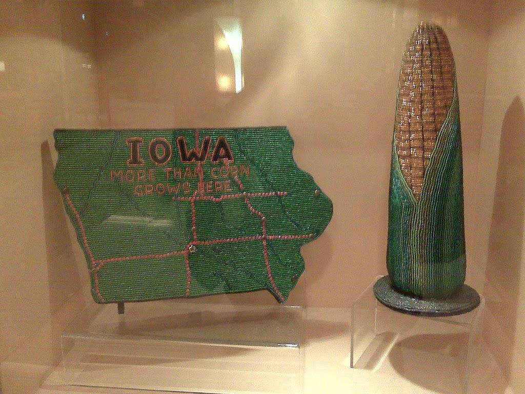 Iowa corn, in beads
