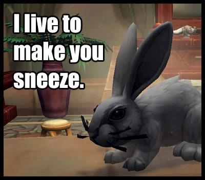 Perks N Peeves A Wild Dust Bunny Appears Legion Alpha
