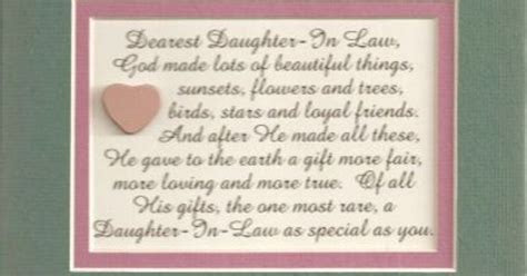 You are very special   A precious gift daughter in law