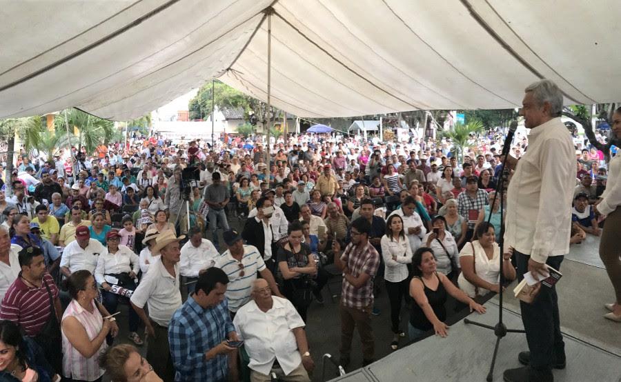 AMLO en un mitin en Actopan, Hidalgo. Foto: Especial